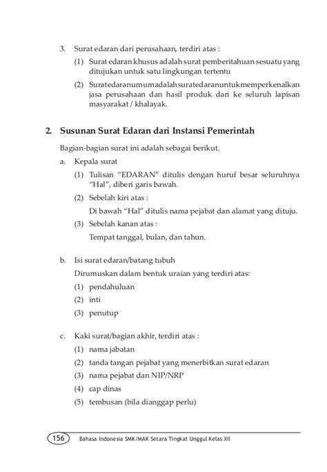 contoh surat lamaran kerja bahasa indonesia kelas xii