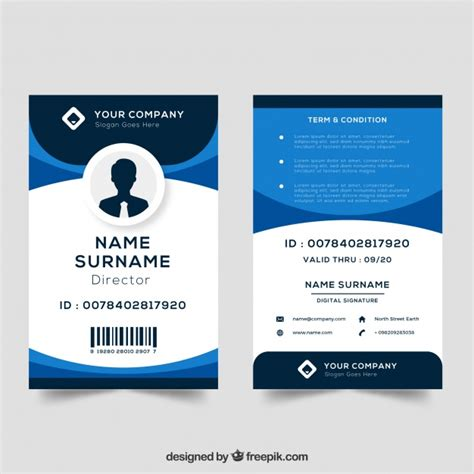 free vector id card template id card template vector free