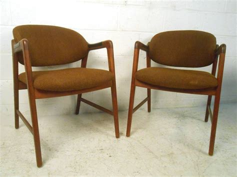 mid century modern teak dining set with westnofa chairs at