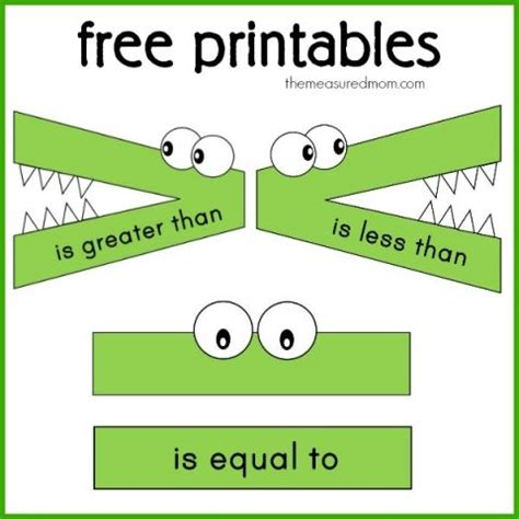 printable comparing numbers games quot less than greater than quot math activity using toys