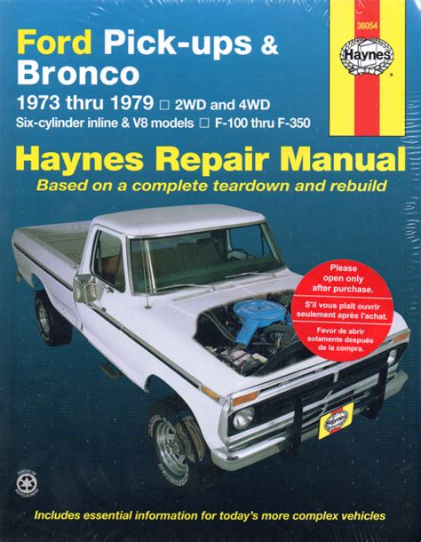 manual repair autos 1984 ford bronco ii electronic toll collection ford pick ups bronco 1973 1979 haynes service repair manual sagin workshop car manuals repair