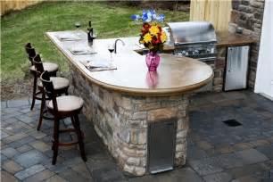 Outdoor Bar Countertop Ideas by Outdoor Paver Designs Outdoor Kitchen Island Countertops