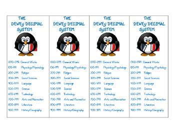 printable dewey bookmarks dewey decimal system bookmarks by kmediafun by kmediafun tpt