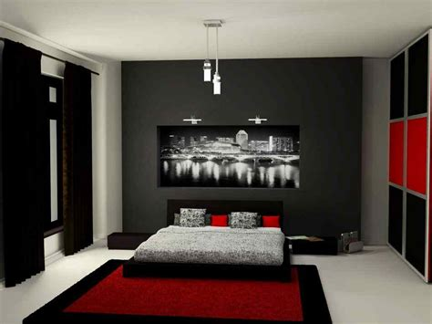 red  black bedroom design ideas timeless modern