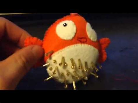 youtube pattern fish tutorial how to make a blowfish or puff fish plush key