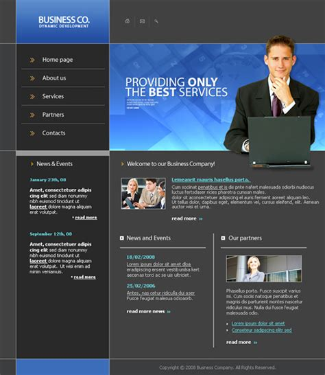 free dynamic website templates dynamic business web template 3272 computers