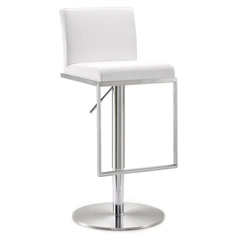 white modern stools modern stools ardennes white adjustable stool eurway