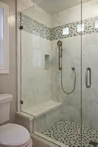 bathroom shower stall tile designs a plain tile type w the same accent for both floor and