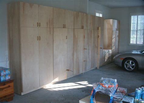 Unfinished Custom DIY Wood Wall Garage Cabinets For Large