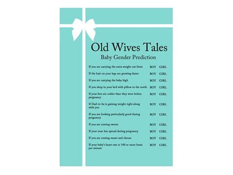 old wives tales determining the gender of your baby tiffany baby shower game pack magical printable