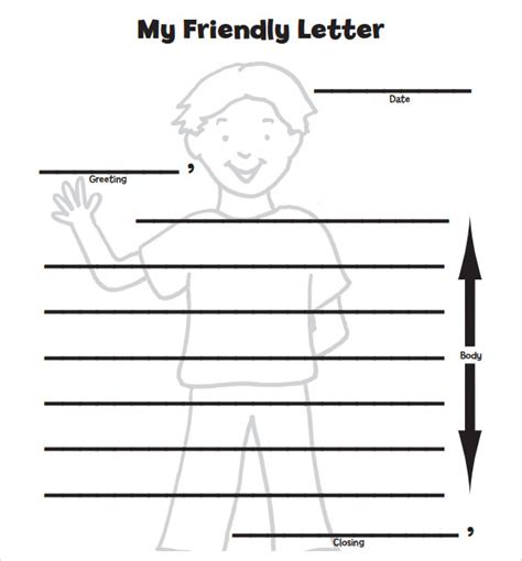 search results for printable friendly letter template