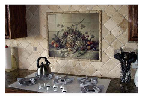kitchen murals design tuscan kitchen backsplash design decobizz com