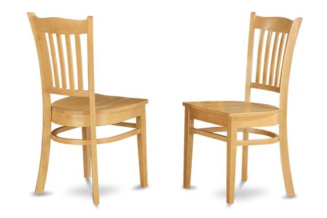 Light Oak Kitchen Chairs Set Of 2 Groton Dinette Kitchen Dining Chairs With Plain Wood Seat In Light Oak Ebay