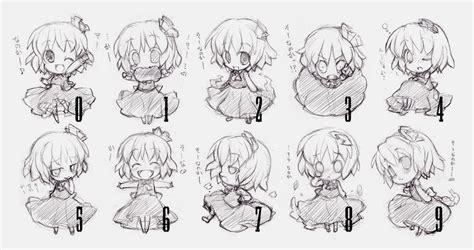 anime dan cara menggambar ekspresi wajah chibi