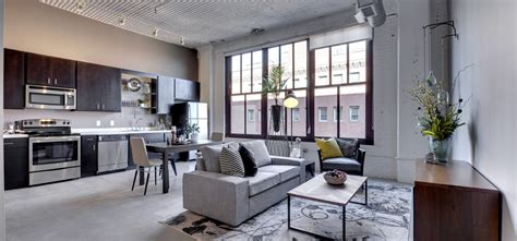Apartments Floor Plans Design by Image Of A Modern Living Room In The Rayette Lofts Luxury