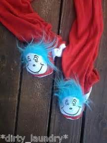 Thing 1 And Thing 2 Sleepers by M Dr Seuss Thing One Thing Two Footed Pajamas