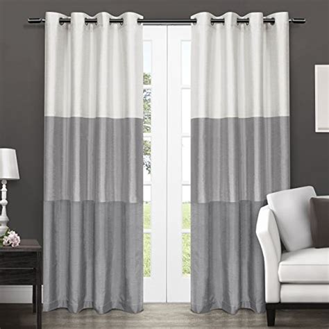 chateau curtains exclusive home chateau striped faux silk grommet top