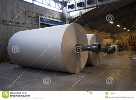 How To Make Paper In Factory - paper and pulp mill plant rolls of cardboard stock image