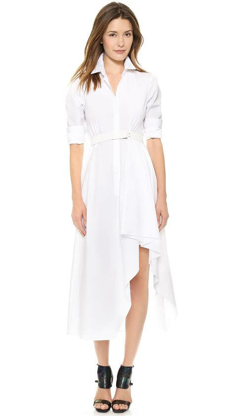 Sale Dresses 100 At Shopbop Part 3 by Theory Sartorial Diaz Dress White In White Lyst