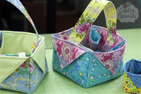 pattern for fabric easter basket diy fabric easter basket video tutorial crafty gemini