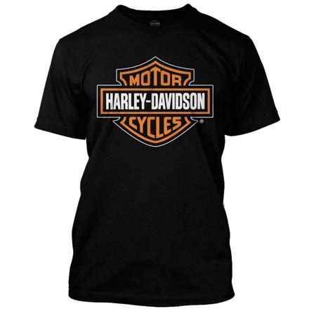 T Shirt Motor Harley Davidson 05 harley davidson s orange bar shield black t shirt