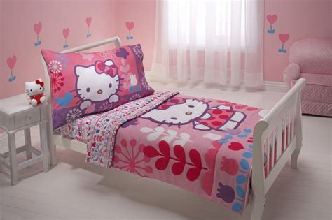hello kitty bed hello kitty 4 piece toddler bedding set everything kitty
