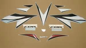 Honda Fireblade Decals Honda Cbr 1000rr Fireblade Decals Set Black White