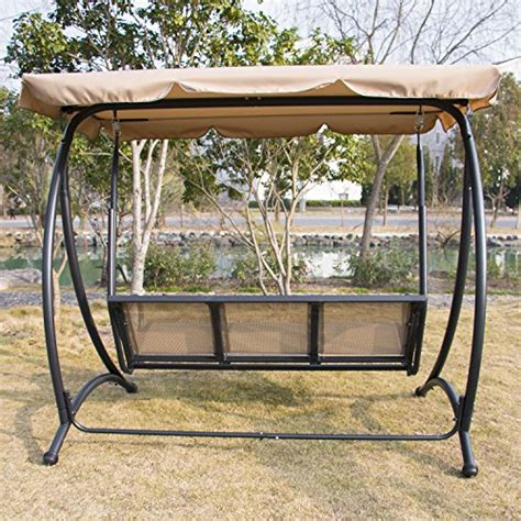 outdoor glider swing replacement seat bestmart inc outdoor 3 person canopy swing glider hammock