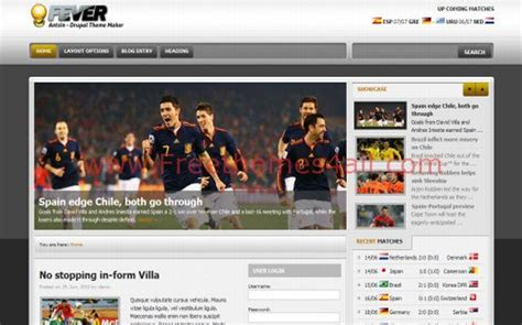 drupal themes with slider free download jquey grey soccer drupal theme free download
