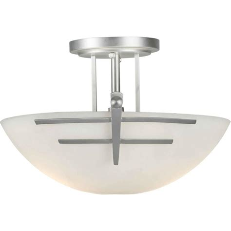 Semi Flush Mount Ceiling Light Brushed Nickel Talista Burton 2 Light Brushed Nickel Incandescent Ceiling Semi Flush Mount Cli Frt2231 02 55
