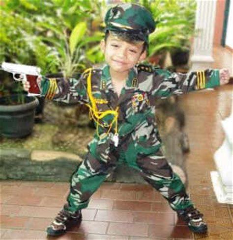 baju tentara anak gerai anak