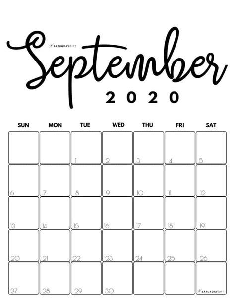 printable  calendar  month   cute colors saturdaygift