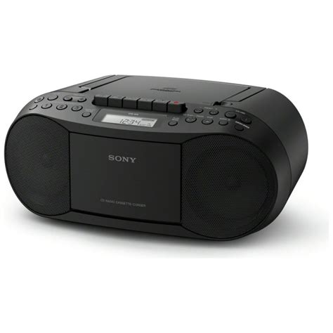 cassette and cd player sony cfd s70 cd and cassette player with radio black