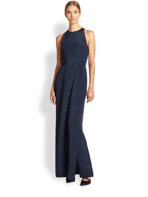Jumpsuit Dress tamara mellon silk jumpsuit dress in blue lyst