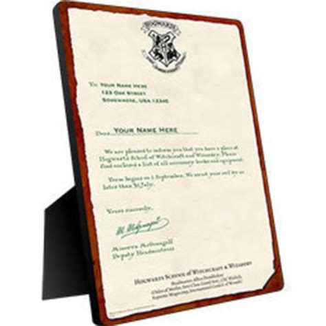 Personalized Hogwarts Acceptance Letter Chromaluxe Panel Harry Potter Hogwarts Personalized From Wbshop Harry Potter