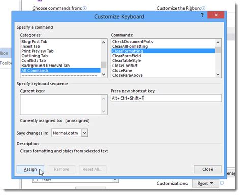 quick layout command word 2013 how to add a keyboard shortcut to a command in word 2013