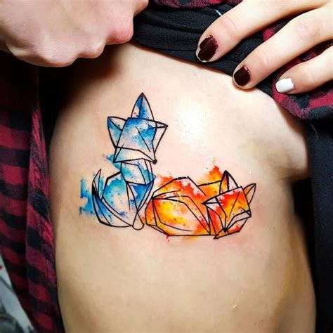 watercolor tattoo origami 46 adorable fox designs and ideas wishes