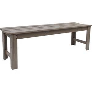 Backless Bench Backless Wood Garden Bench In Outdoor Benches