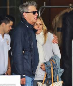 david and yolanda foster mystery blonde pictured with david foster hugs mystery blonde female as he leaves