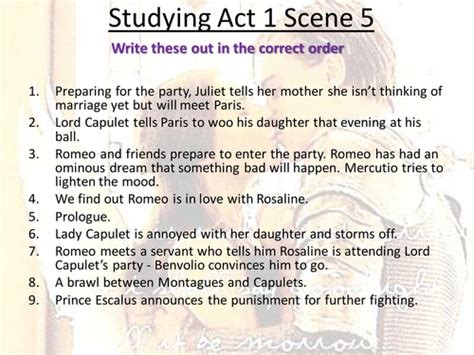 themes of romeo and juliet act 1 scene 4 romeo and juliet studying act 1 scene 5 by he4therlouise