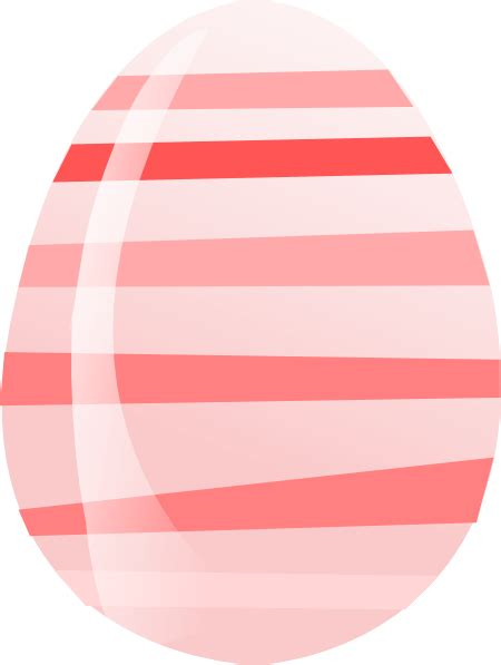 pink easter egg pink striped easter egg clip at clker vector