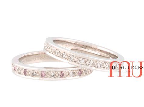 pink australian argyle and white platinum wedding