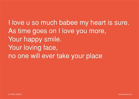 i love u so much babee my heart is sure as time goes on