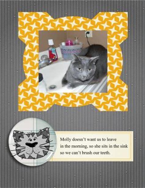 scrapbook layout ideas cats cat themed scrapbook page ideas