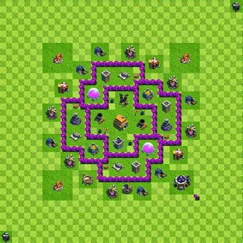 layout of coc town hall 6 tipe defense base layout town hall level 6 clash of clans