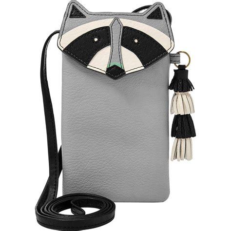 Fossil Tech Novelty Phone Bag Iron fossil raccoon phone crossbody ebags shaped bags