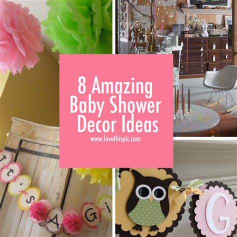 Amazing Baby Shower Themes by 8 Amazing Baby Shower Decor Ideas