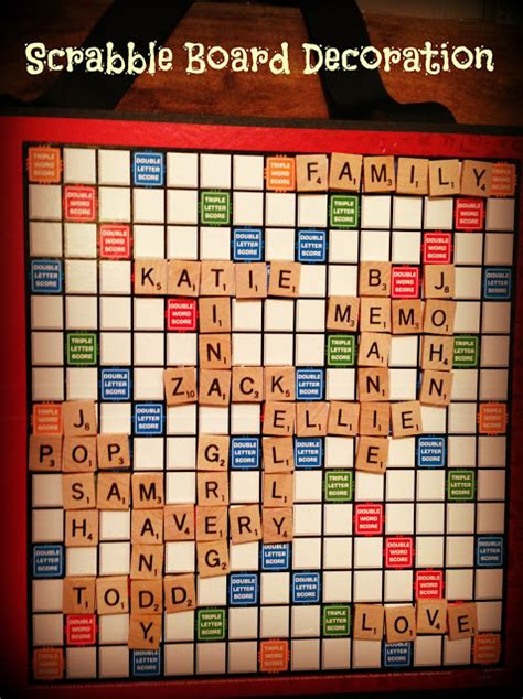 new scrabble board four front doors scrabble family decoration
