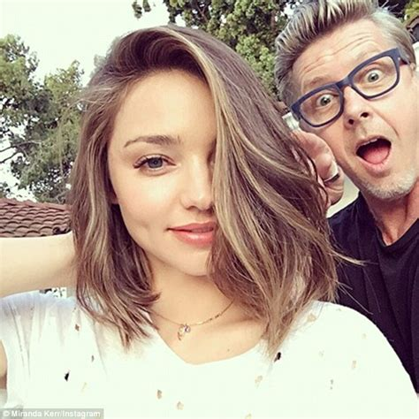 how does courtney kerr style her short hair miranda kerr ditches her trademark locks for a shoulder