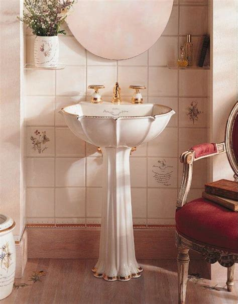 Kohler Anatole Pedestal Sink by Kohler K 14269 Wf 96 Biscuit Prairie Flowers Design On